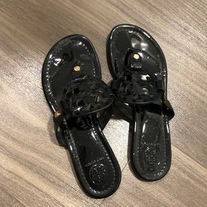 Tory Burch Miller Sandals (Black Patent)